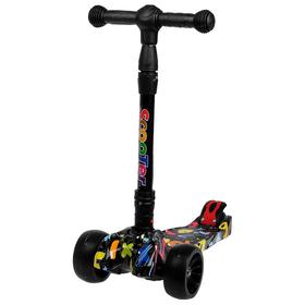 Самокат складной, колёса световые PU d=11/5 см, ABEC 7, складной до 65 кг, цвет чёрный