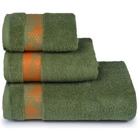 Полотенце махровое «Element» 70х130 см, цвет зелёный, 390 гр/м2