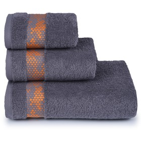 Полотенце махровое Element 50х90 см, 18-5210 серый, хлопок 100%, 400 гр/м2