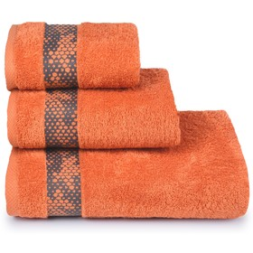 Полотенце махровое «Element» 70х130 см, цвет оранжевый, 390 гр/м2