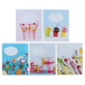 Тетрадь 12 листов в линейку «Стиль. Bright & Sweet», обложка мелованный картон, ВД-лак, МИКС