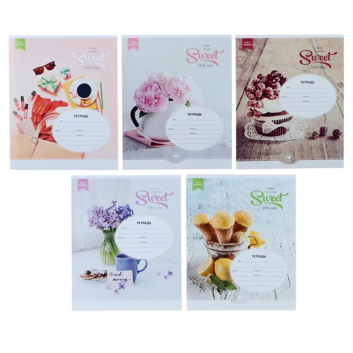 Тетрадь 18 листов клетка «Стиль. Girl's passion», обложка мелованный картон, МИКС - фото 309457376