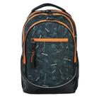 Рюкзак  молодежный эргоном.спинка Hatber Street 42*30*20 Extreme, чёрный/оранжев NRk_37085