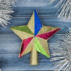 "Звезда на ёлку ""Цветные грани"""