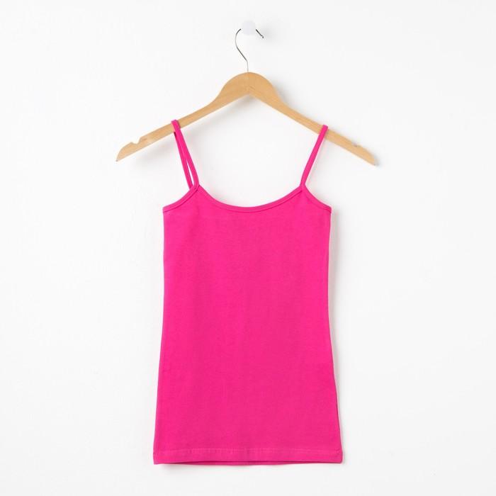 Майка женская, цвет розовый, р-р 48