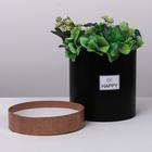 Подарочная коробка круглая «Крафт», 15 х 15 см