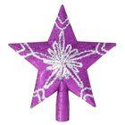 "Звезда на ёлку ""Серебряная снежинка"""