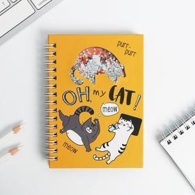 Блокнот - шейкер Oh my CAT!, А6, 60 листов