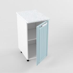 Шкаф нижний РоялВуд, 600х400х850, Белый/Голубой прованс
