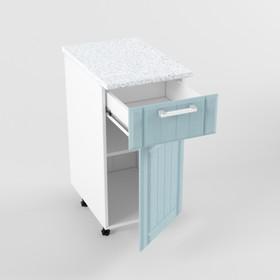 Шкаф нижний с 1 ящиком и 1 дверью РоялВуд, 600х400х850, Белый/Голубой прованс