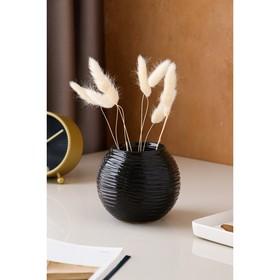 """Ваза настольная """"Шарик"""", чёрная, 10,5 см, керамика в Донецке"""