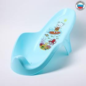 Горка для купания с декором, цвет светло-голубой