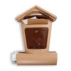Ящик почтовый «Элит», вертикальный, с замком, пластик, цвет бежевый с коричневым
