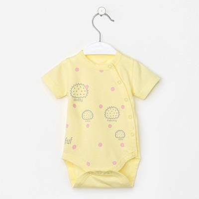 Боди детское, цвет жёлтый, рост 56 см