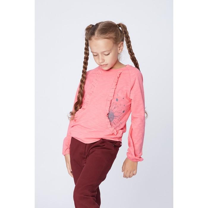 Свитшот для девочки, цвет розовый, рост 134 см