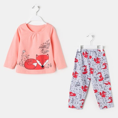 Пижама для девочки, цвет персик, рост 86 см