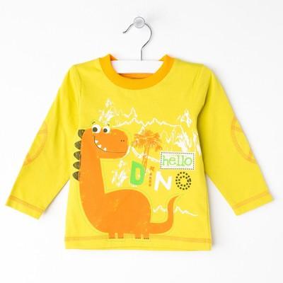Лонгслив для мальчика, цвет жёлтый, рост 80 см