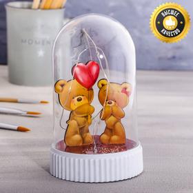 Светильник с фигурками «Мишка с шаром»,мод.СК-005, 14,5х9см