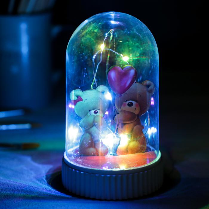 Светильник «Мишка», с фигурками, 5 × 9 см