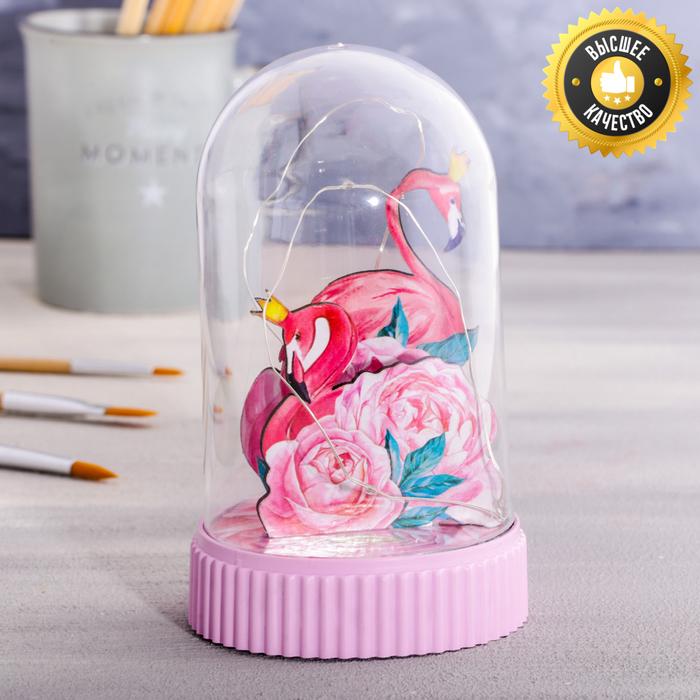 Светильник «Фламинго», с фигурками, 5 × 9 см