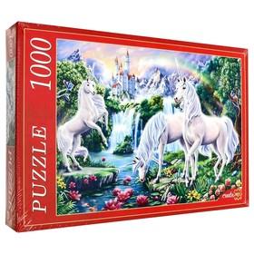 Пазл «Единороги и замок», 1000 элементов