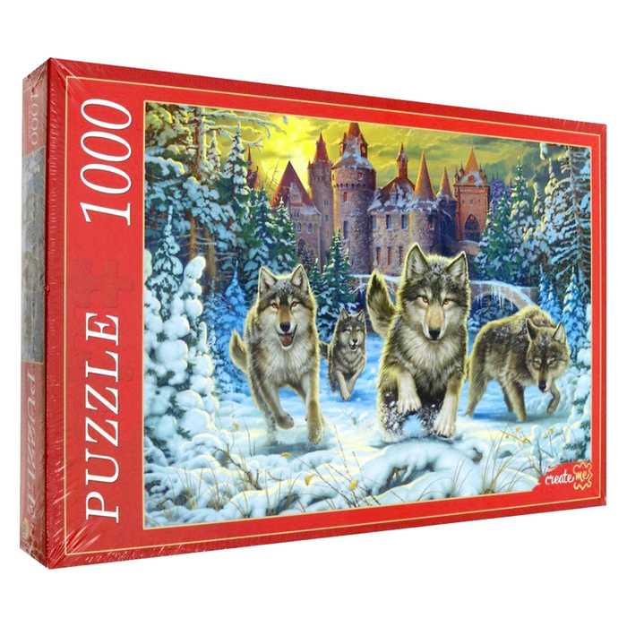 Пазл «Волки и замок», 1000 элементов