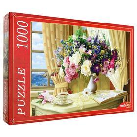 Пазл «Цветочный натюрморт у окна», 1000 элементов