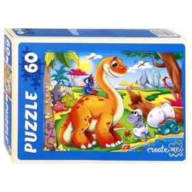 Пазл «Динозавры № 2», 60 элементов