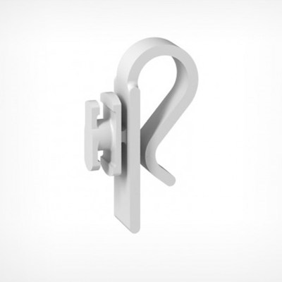 Clip for hanging a clasp-pin frame on the shelf LEGO