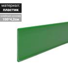 Ценникодержатель полочный самоклеящийся, DBR, 1000 мм., цвет зелёный