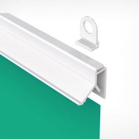Профиль пластиковый защелкивающийся для плакатов CLICKER длина 1000 мм, цвет белый (без крючков-держателей)