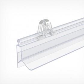 Click-profile plastic snap-on GRIPPER, length 1000 mm, transparent