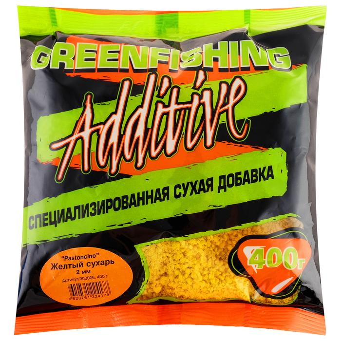 Желтый сухарь Greenfishing Pastoncino 2мм, 400 гр