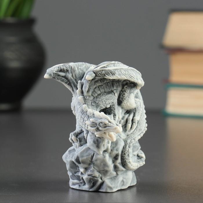 """Сувенир """"Дракон на камне """" 8,5см"""