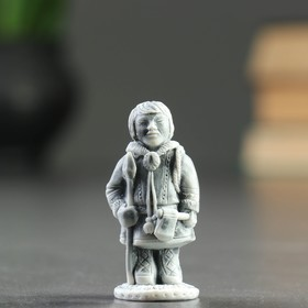"""Сувенир """"Охотник с копьем и топором маленький"""" 6см"""