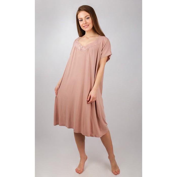Сорочка женская, цвет бежевый, размер 56