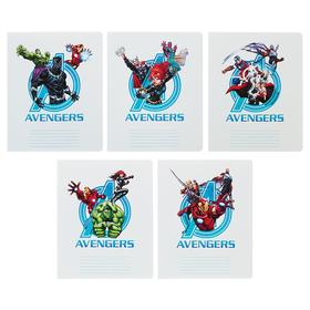 """Notebook 18 sheets cage """"MARVEL Avengers"""", cover coated cardboard, MIX"""
