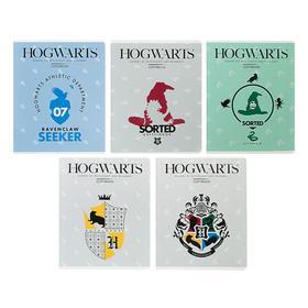 Тетрадь 24 листа клетка «Гарри Поттер», обложка мелованный картон, выборочный лак, МИКС