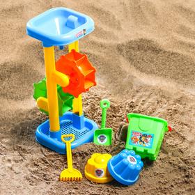 Набор для игры в песке: ведро, мельница, совок, грабли, 2 формочки, PAW PATROL цвет МИКС, 530 мл