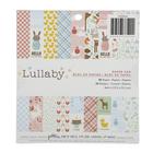 Набор бумаги для скрапбукинга Pebbles - Коллекция «LULLABY» - 15х15 см (36 листов)