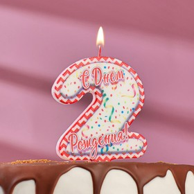 "Свеча для торта цифра ""2"", ГИГАНТ"