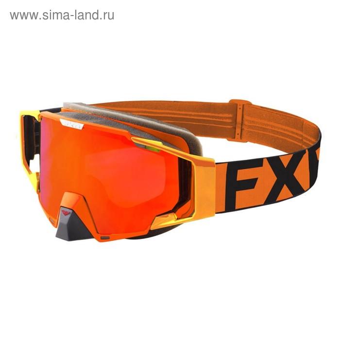 Очки FXR Pilot, взрослые, оранжевый, чёрный