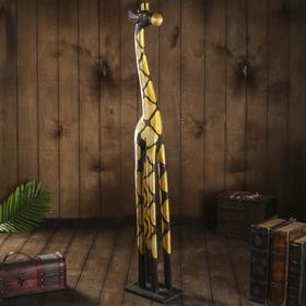 """Сувенир дерево """"Жираф с ромбами"""" 11х18х100 см"""