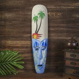 Настенная маска 'На пляже' дерево,песок  2,5х11х50 см Ош
