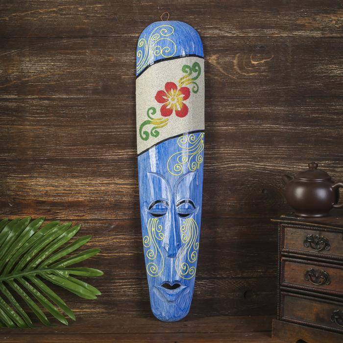 """Настенная маска """"Цветок"""" дерево,песок  2,5х11х50 см"""