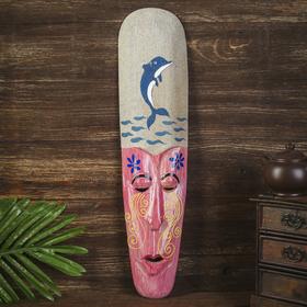"""Настенная маска """"Дельфин"""" дерево,песок  2,5х11х50 см"""