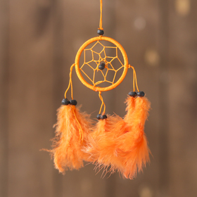 """Ловец снов """"Осенняя пора"""" оранжевый 0,5х6х25 см"""