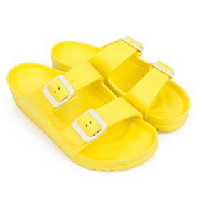 Слайдеры женские пляжные, цвет жёлтый, размер 36