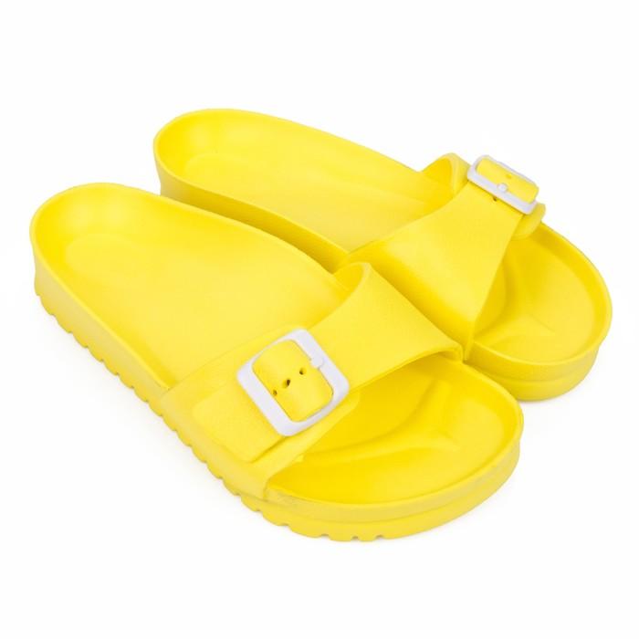 Слайдеры женские, цвет жёлтый, размер 41