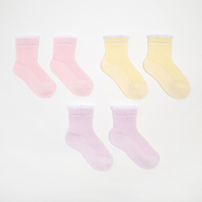 Набор носков детских (3 пары), р-р 14-16 - фото 258029